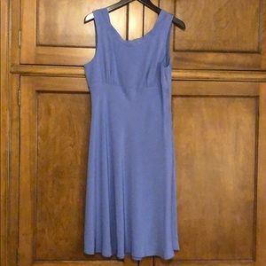 Silk empire waist periwinkle dress